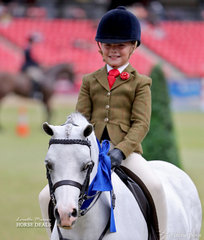 Winner of the Child's Show Hunter Pony, n.e. 12.2hh class is Bonte Raymont riding 'Nawarrah Park Belladonna'.