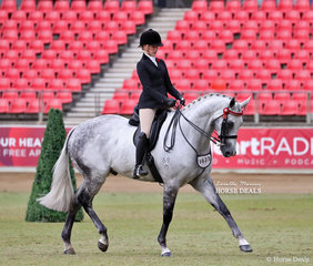 Sweet victory for Kaitlin Labahn-Meyland, now she's turned 18 this was her first time riding 'Rolex II' in the Lady's Hack class and they won!