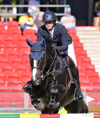 The Yandoo Equestrian Services' entry in the Table A Jumping Contest 'Dublin', ridden by Sarah Duggan.