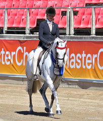 'Mirinda Alablaster' won the Open Pony, over 13.2hh & n.e. 14hh class, owned by Christine Nichols and ridden by Daizi Plumb.