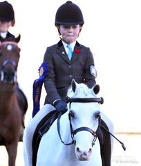 Stella Gilmour won the Open Girl Rider, 6yrs & under 9yrs class.
