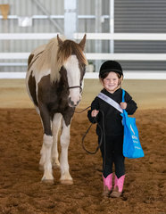 Could these 2 get any cuter! Harmony Hills Duchess Prophecy with her junior handler Skylah
