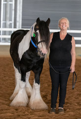 Smiles like this make it all worth while for event organisers! You can't half tell that Lisa Buckley is pleased to show-off imported stallion GP The Prophet.