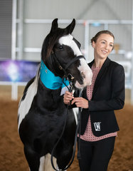 I know we said it before but these two are a perfect example of having fun with your horse and celebrating the achievements, no matter how big or small. Rebecca Dallas and purebred Smith Skipper