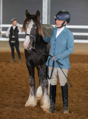 Oh those baby blues!! Eden Fields Touched by Magic and her owner Rebecca McLennan