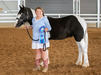 Proof that young horses and young handlers can be an awesome combination! Matilda had an amazing first show with Lazy B Rite on Da Money and was rewarded with an Encouragement Award from President Linda Leach