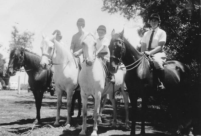 A Saturday ride at Acme Riding School 1960.