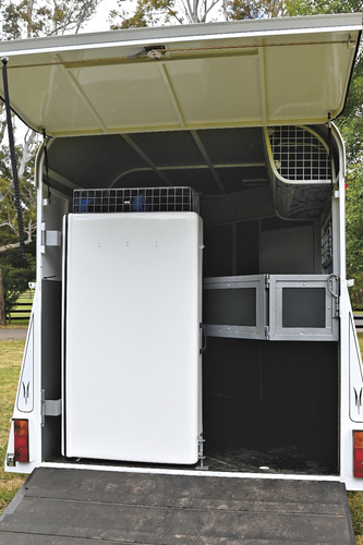 All ready to close up with swing out tack box in and secured.