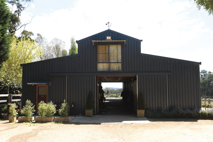 David and Robbie McKinnon operate out of this barn at Woodside Stables.
