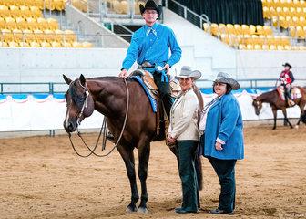CP Surely Worth The Waite won the  Western Pleasure Junior Horse.