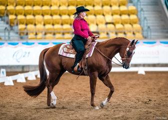 Debra Watson won the Western Dressage on How Cool Am I.