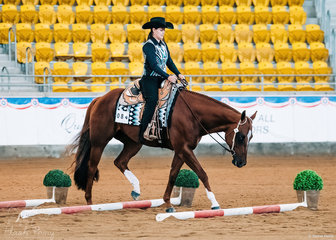 LPH Southern Downunder & Sheree Meyers in the Amateur Trail Junior Horse.