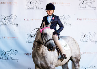 Matilda Dunbbier and Tyrell Park Alil Squeak placed 4th in the Youth Dressage.