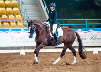 Olivia Palfreyman & Prima Donna SP, National Amateur Dressage Champion.