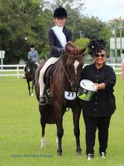 Supreme Rider Anastasia Blanch with Judge Juliana Lucas