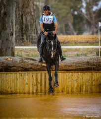 Winners of the Little Equine Co CCI2*-S - David Middleton and 'WEC In The Breeze' drop into the newly renovated, Wayne Copping designed 'Lake Stuart'