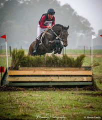 Luke Jones and 'Spirit' braving the late afternoon drizzle to finish a respectable 4th in the EVA95.