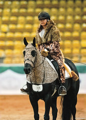 Braeview Coolabah & Claire Davidson in the Freestyle  Dressage class.