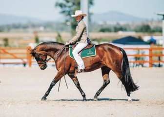 Braeview Grace & Cassie Howley competing in the Abbey Open Challenge.