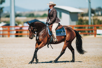 Rosethorn First Lady & Emma McKavanagh placed 3rd in the Pleasure Hack 4yo Filly.