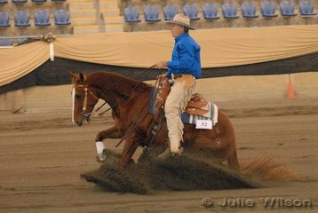 Mark Cathcart from Tamborine in Queensland, rode Calboy Magic to equal eigth place in the Novice Horse Non Pro, scoring 136.5.