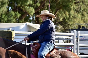 Melissa West was all smiles after competing in the Western Heritage All Levels