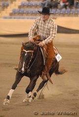 Cameron Halliwell rode OP Dunit Up A Notch to third place in the Intermediate Open Futurity Ist Go Round and equal seventh in the Open Futurity, scoring 140.