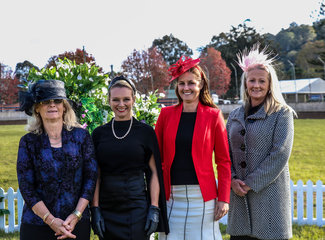 NNSW Hack Champs had four officiating judges for Qualifier classes  from left  Elizabeth (Libby) Greshner (Victoria), Renae Dorney (NSW), Melinda De Rooy (NSW) & Rachael Addison (Victoria)
