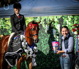 Caitlin Senter and Kylie Regal Monarch of Astral -Champion Large Newcomer Pony