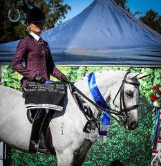 Glengannon Serenade with rider Erin Krahnen -Intermediate Large Show Hunter Galloway