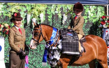 Lily May-Keas Westbury Boudicca -Leading Rein Rider, Newcomer Champion Leading Mini pony