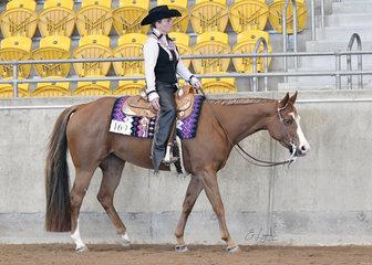 Anne Marshall riding SRQ Kissin Georgia