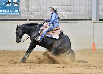 Amanda Halliday riding  Wimpskey