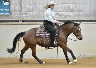 Christine Watson riding BR Little Miss Curly Cat