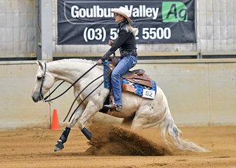 Ellise Baskerville riding Star Spangled Destiny