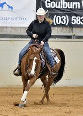 Isabella Wilkinson riding A Custom Phoenix