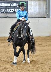Rae Cribb riding Classic Genetics