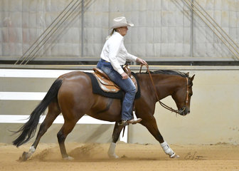 Stephanie Saether riding Smart Little Spin Wizard