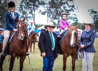 Junior ASH riders with judge Bruce wilson