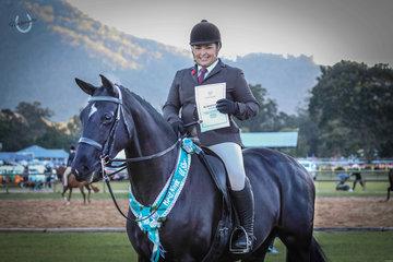 Best Novice of Show, sponsored by  Wilson Equestrian. Heathmont Flirt and Abbey Lovell