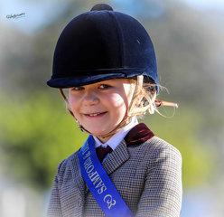 Millicent Garrihy on Tandarra Park Jimny Cricket seen here winning her rider class