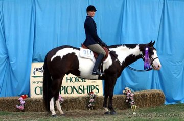Felicity Forsyth & Half A Chance took out the Senior Youth Hunter Under Saddle.