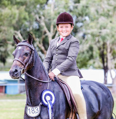 The Langtree Stud Home Produced Large Hunter Pony was awarded to Sabastian Lucas & his own Farleigh Wessex