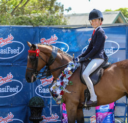 Champion childs large hack went to Most Important and Clare Fedrick