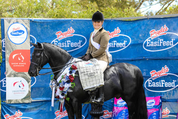Champion small hunter galloway went to Clemson Tuxedo and Kirsty Harper-Purcell