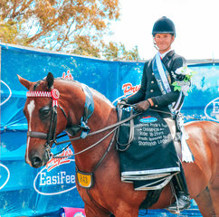 Champion rider 18 to 25yrs was Rhys Stanley