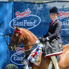 Childs Large Show pony was won by Regal Monarch of Astral ridden by Amelia Waller and owner by Kylie Senter