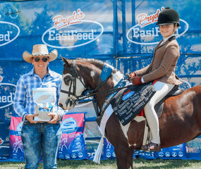Dunelm Fashion Star Runner Up Small Show Hunter Pony and  Champion Owner Rider Show Hunter Pony with sponsor Stamanol