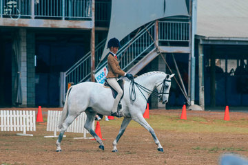Clare Fedrick and Ellabre Debonaire working out for Runner up Large Childs Hunter