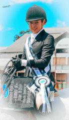 Runner up rider 18 to 25 yrs was Jessica Fedrick